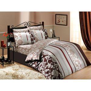 Комплект постельного белья Hobby home collection Евро, сатин, Oriental, коричневый (1501000946)