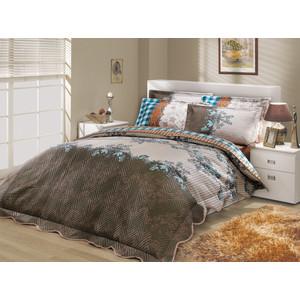 Набор для спальни Hobby home collection Delfina-Serena покрывало + КПБ 2-х сп. поплин синий/синий (1501000095)