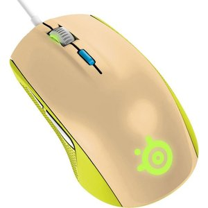 Игровая мышь SteelSeries Rival 100 Gaia green/beige (62339)