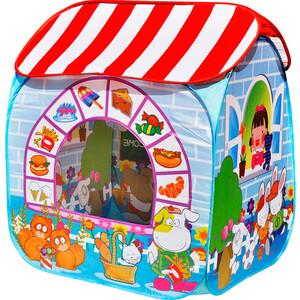Игровая палатка Ching-Ching Сладкий остров, 95х95х80 см + 100 шаров (CBH-32) палатки домики babyone ching ching дом 100 шаров жираф