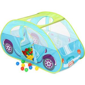 Домик Bony в комплекте с шариками Голубая машинка, LI519, 130х70х80, 100 шаров машинка 6 14791 для чистки цепи yc 791 в 2 х плоск с рукояткой голубая bikehand