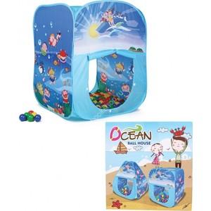 Домик Bony в комплекте с шариками Квадрат океан, LI502, 85х85х100, 100 шаров