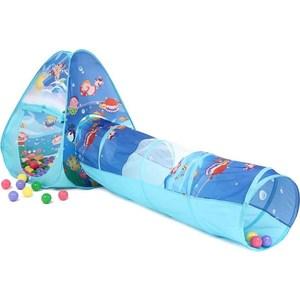 Домик Bony с тоннелем с шариками Треугольник Океан LI503 85х85х100 D-48х180 100 шаров палатки домики bony игровой домик с тоннелем с шариками квадрат бабочки