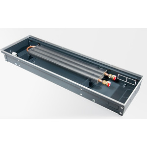 Конвектор отопления Techno внутрипольный с естественной конвекцией без решетки (KVZ 350-120-1600)