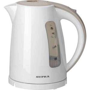 Чайник электрический Supra KES-1726 белый/бежевый чайник электрический supra kes 1231 серебристый