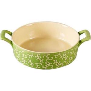 Форма для запекания круглая 30х23х7см Appetite зеленая (YR100038A-12) форма для запекания appetite 22 20 4 см круглая