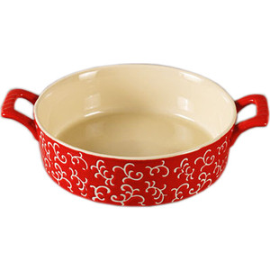 Форма для запекания круглая 30х23х7см Appetite красная (YR100038Q-12) форма для запекания appetite 22 20 4 см круглая