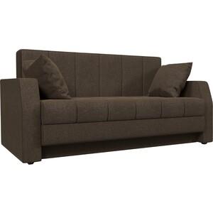 Диван АртМебель малютка Рогожка Коричневая шатура комплект лондон рогожка микс коричневая диван 2 кресла