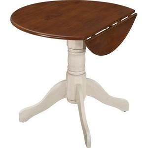 Стол TetChair 36 RS , Античный белый/Тёмный Дуб комплект стульев обеденных 2 шт tetchair jupiter jt sc2 цвет тёмный орех