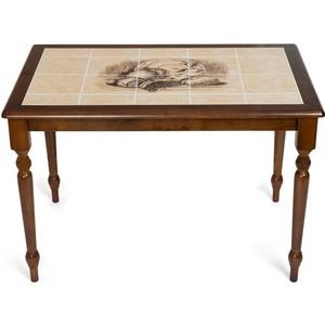 Стол TetChair CT 3045P с плиткой, Тёмный Дуб, рисунок-Натюрморт обеденный стол с керамической плиткой tetchair ст 3045р