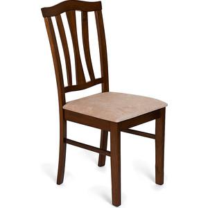 Стул TetChair CT 8162 с мягким сиденьем / Тёмный Дуб, Ткань бежевая кухонный стул tetchair стул maxi с мягким сидением