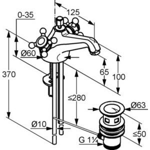 Смеситель для раковины Kludi Adlon (510120520)  - купить со скидкой