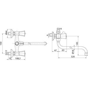 Смеситель для ванны Edelform Adel (AD28102) смеситель edelform almond al2800