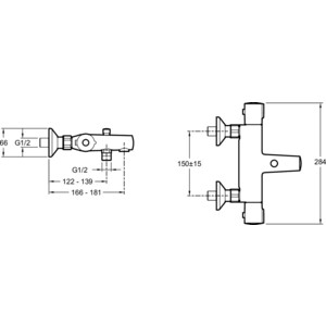 Термостат для ванны Jacob Delafon July (E45714-CP) от ТЕХПОРТ