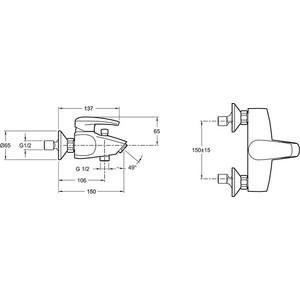 Смеситель дл ванны Jacob Delafon Tea (E71600-CP) от ТЕХПОРТ