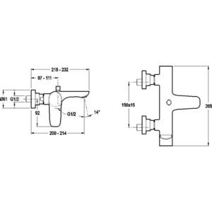 Смеситель для ванны Jacob Delafon Aleo (E72282-CP) от ТЕХПОРТ