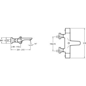 Термостат для ванны Jacob Delafon Aleo (E72286-CP) от ТЕХПОРТ