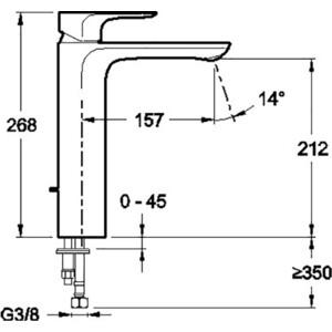 Смеситель для раковины Jacob Delafon Aleo (E72299-CP) от ТЕХПОРТ