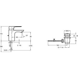 Смеситель для раковины Jacob Delafon Aleo+ (E72312-CP) от ТЕХПОРТ
