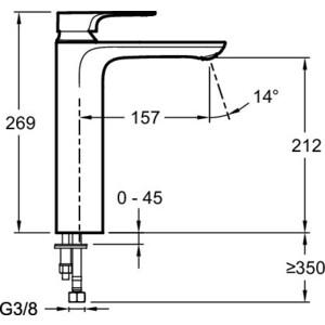Смеситель для раковины Jacob Delafon Aleo+ (E72336-CP) от ТЕХПОРТ