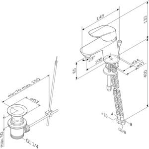 Смеситель для раковины Am.Pm Like (F8082132) от ТЕХПОРТ