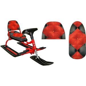 Снегокат Барс со складной спинкой (104 Comfort Soft Red) снегокат барс comfort зимняя сказка со складной спинкой иванушка 126