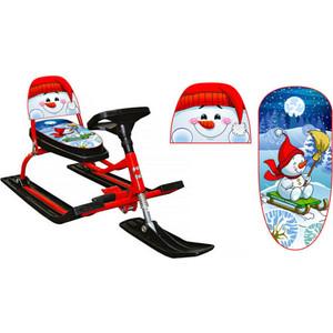 Снегокат Барс со складной спинкой (красный) (130 Comfort Снеговик красный)