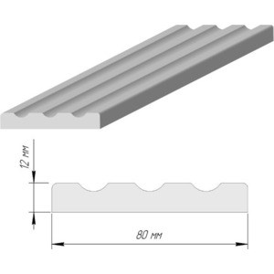 Наличник DEMFA №3 эмаль 2120х80х12 мм Белый наличник demfa эмаль 2140х70х12 мм белый для капри комплект 5шт