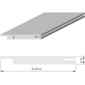 Доборная планка DEMFA телескопический эмаль 2070х90х12 мм Белый наличник demfa эмаль 2140х70х12 мм белый для капри комплект 5шт