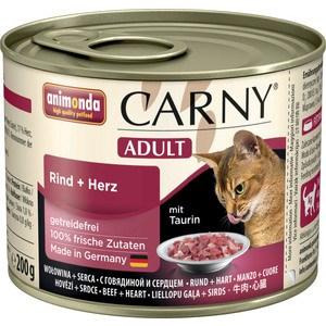 Консервы Animonda CARNY Adult с говядиной и сердцем для кошек 200г (83704)