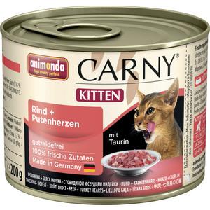 Консервы Animonda CARNY Kitten с говядиной и сердцем индейки для котят 200г (83696)