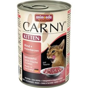 Консервы Animonda CARNY Kitten с говядиной и сердцем индейки для котят 400г (83712)