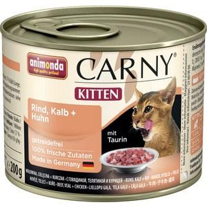 Консервы Animonda CARNY Kitten с говядиной, телятиной и курицей для котят 200г (83699)