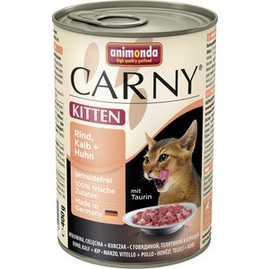 Консервы Animonda CARNY Kitten с говядиной, телятиной и курицей для котят 400г (83715) samool 2017 new arrival women boots lace up martin boots women ankle fur boots brand winter women shoes female high heel shoes page 9