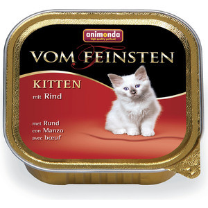 Консервы Animonda Vom Feinsten Kitten с говядиной для котят 100г (83448)