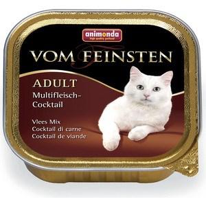 Консервы Animonda Vom Feinsten Adult коктейль из разных сортов мяса для кошек 100г (83441) корм для кошек animonda vom feinsten adult коктейль из разных сортов мяса конс 100г