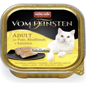 Консервы Animonda Vom Feinsten Adult меню для гурманов с индейкой, говядиной и морковью для привередливых кошек 100г (83263)