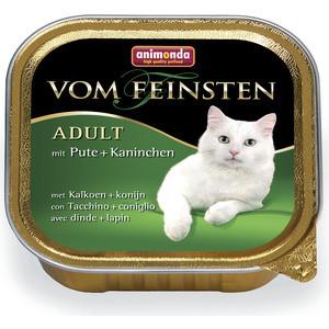 Фото - Консервы Animonda Vom Feinsten Adult с индейкой и кроликом для кошек 100г (83442) консервы animonda vom feinsten для взрослых собак с кроликом 150 г