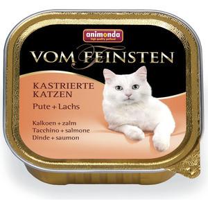 Консервы Animonda Vom Feinsten for Castrated Cats с индейкой и лососем для стерилизованных кошек 100г (83855)