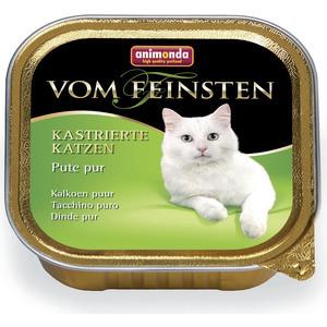 Консервы Animonda Vom Feinsten for Castrated Cats с отборной индейкой для стерилизованных кошек 100г (83856)