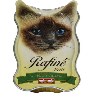 Консервы Animonda Rafine Petit паштет из кролика для кошек 85г (83470)  недорого