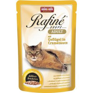 Паучи Animonda Rafine Soup Adult с домашней птицей в сливочном соусе для кошек 100г (83657)  недорого