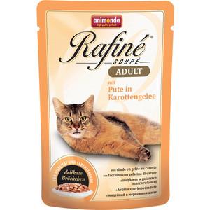 Паучи Animonda Rafine Soup Adult с индейкой в морковном желе для кошек 100г (83663)  недорого