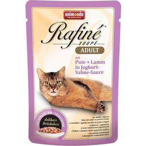 Паучи Animonda Rafine Soup Adult с индейкой и ягненком в йогуртово-сливочном соусе для кошек 100г (83666)  недорого