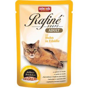 Паучи Animonda Rafine Soup Adult с курицей в яичном пудинге для кошек 100г (83665)  недорого