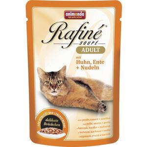 Паучи Animonda Rafine Soup Adult с курицей, уткой и пастой для кошек 100г (83652)  недорого