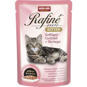 Паучи Animonda Rafine Soup Kitten с мясом домашней птицы и креветками для котят 100г (83651)  недорого