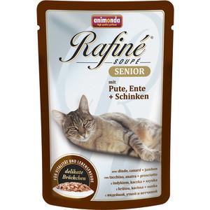 Паучи Animonda Rafine Soup Senior с мясом индейки, уткой и ветчиной для пожилых кошек 100г (83659)  недорого