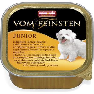 Консервы Animonda Vom Feinsten Junior с мясом домашней птицы и сердцем индейки для щенков и юниоров 150г (82973)