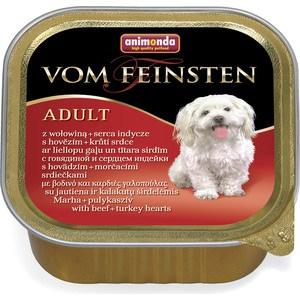 Консервы Animonda Vom Feinsten Adult с говядиной и сердцем индейки для собак 150г (82966) корм animonda vom feinsten forest кролик 150g для собак 82980